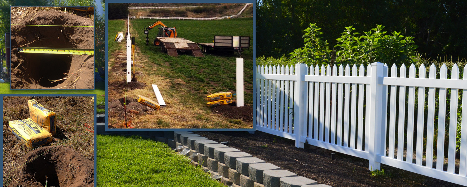 Wide Hole, More Concrete, Saves Time, Beautiful Fence
