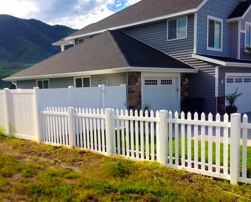 Picket Fence on edge of yard.