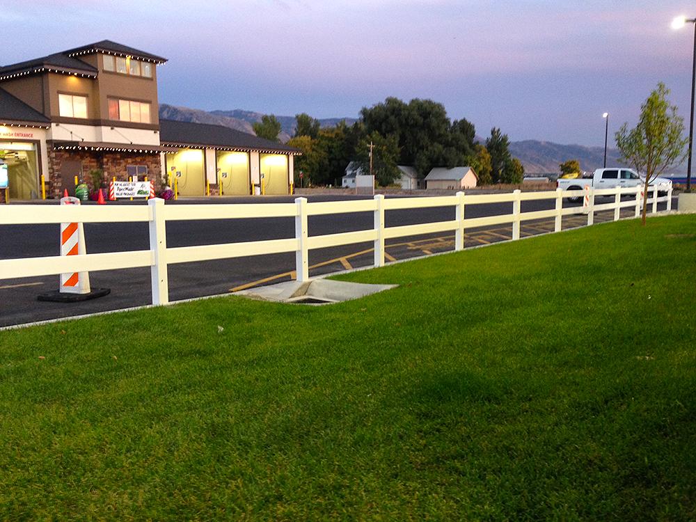 Vinyl Ranch Rail Fence Asl Fence